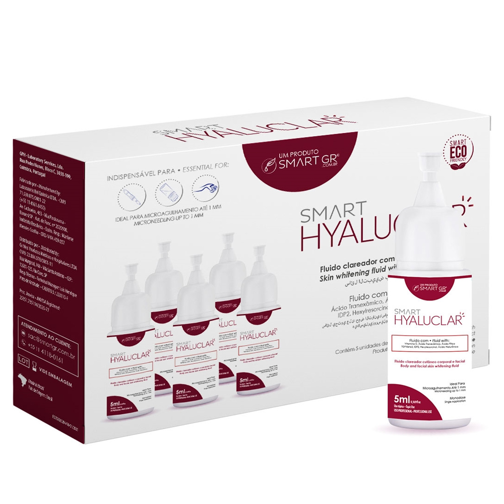 Smart Hyaluclar - Fluido Clareador com Ácido Hialurônico - 5 mL c/ 5