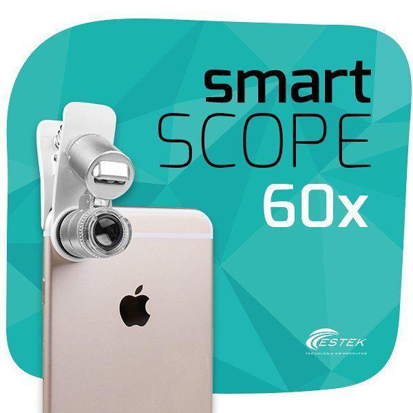 Smartscope Lente de Aumento de 60x para Câmera de Celular