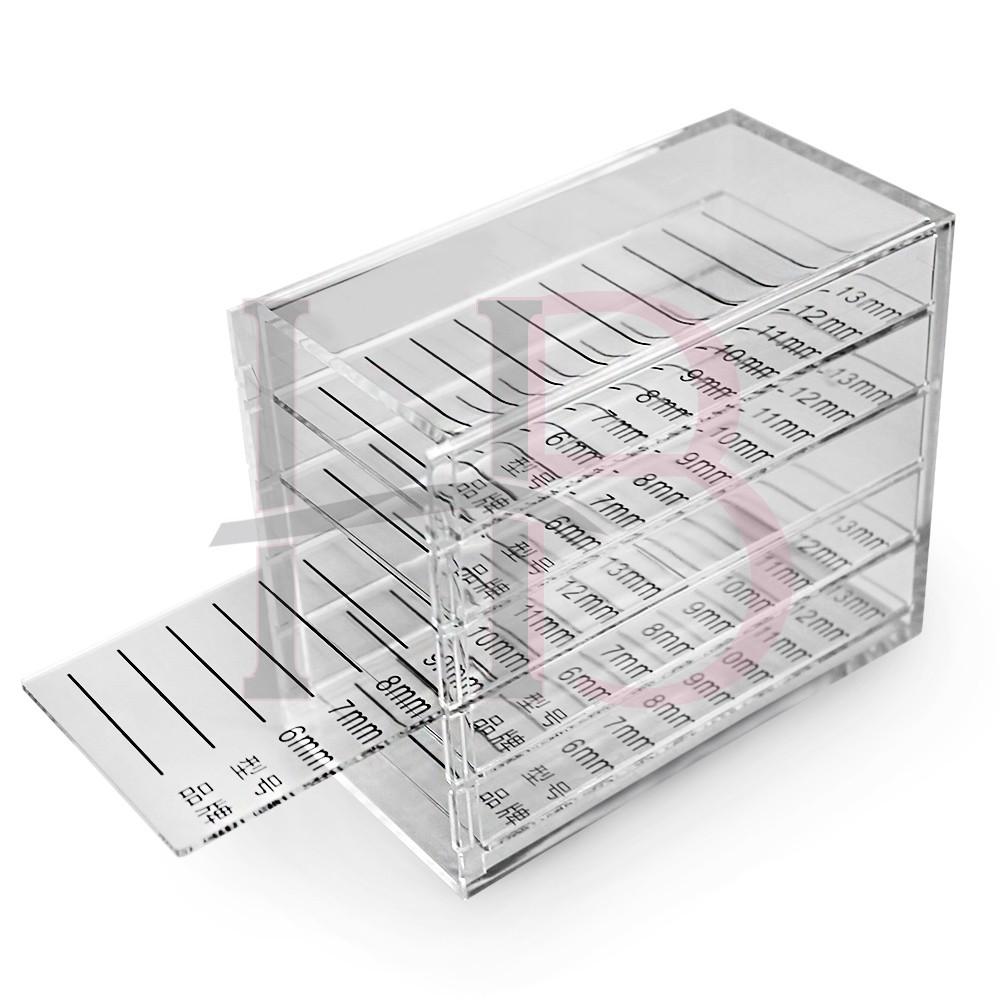 Suporte / Box Organizador de Cílios em Acrílico Transparente