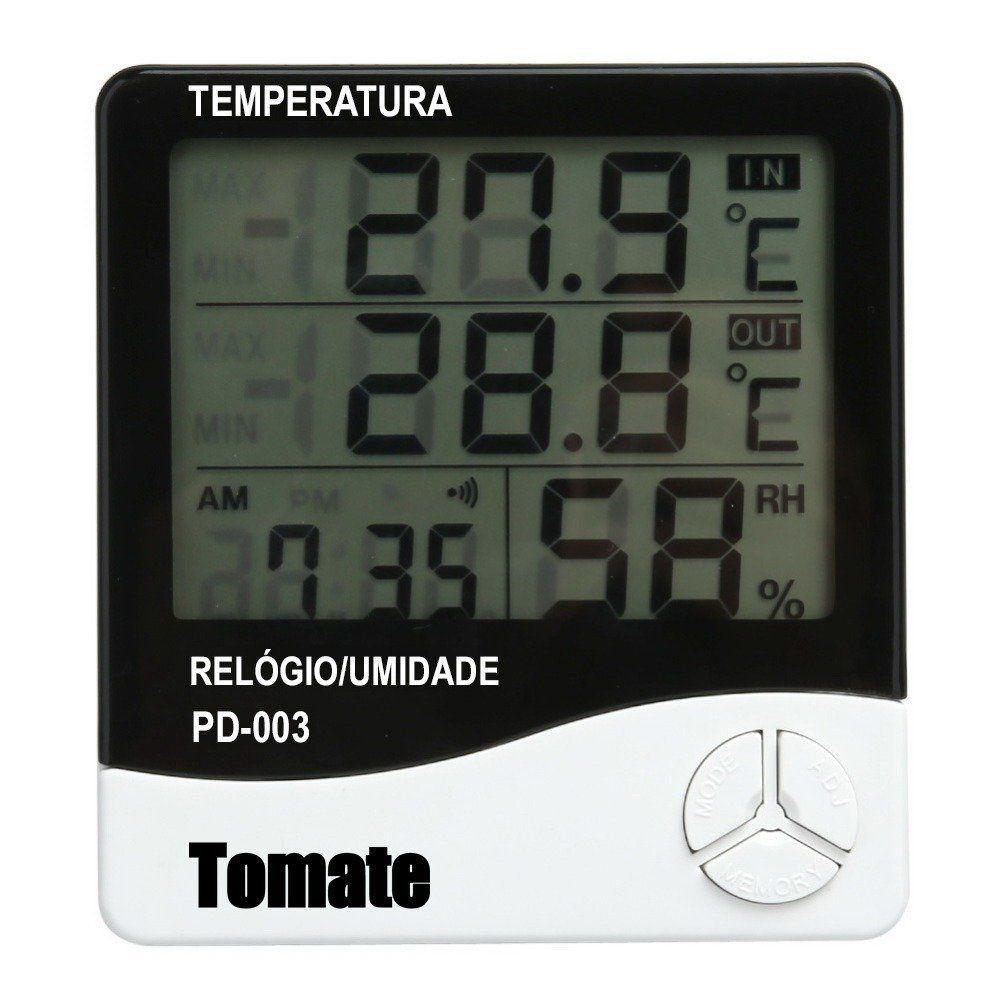 Termo Higrômetro Digital Tomate - Modelo PD 003