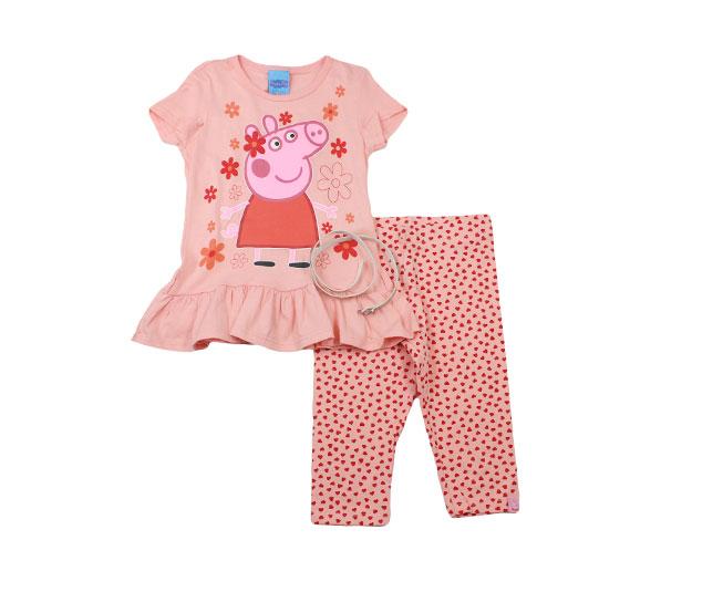 Conjunto Feminino Camiseta+Calça+Cinto Peppa Pig Malwee