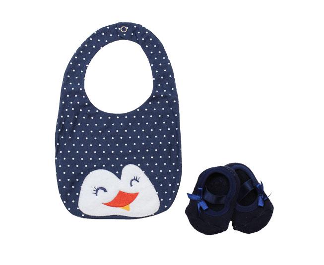 Babador Pinguim c/ Par de Meias