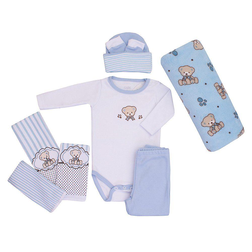 Baby Kit Azul Ursinho Colibri
