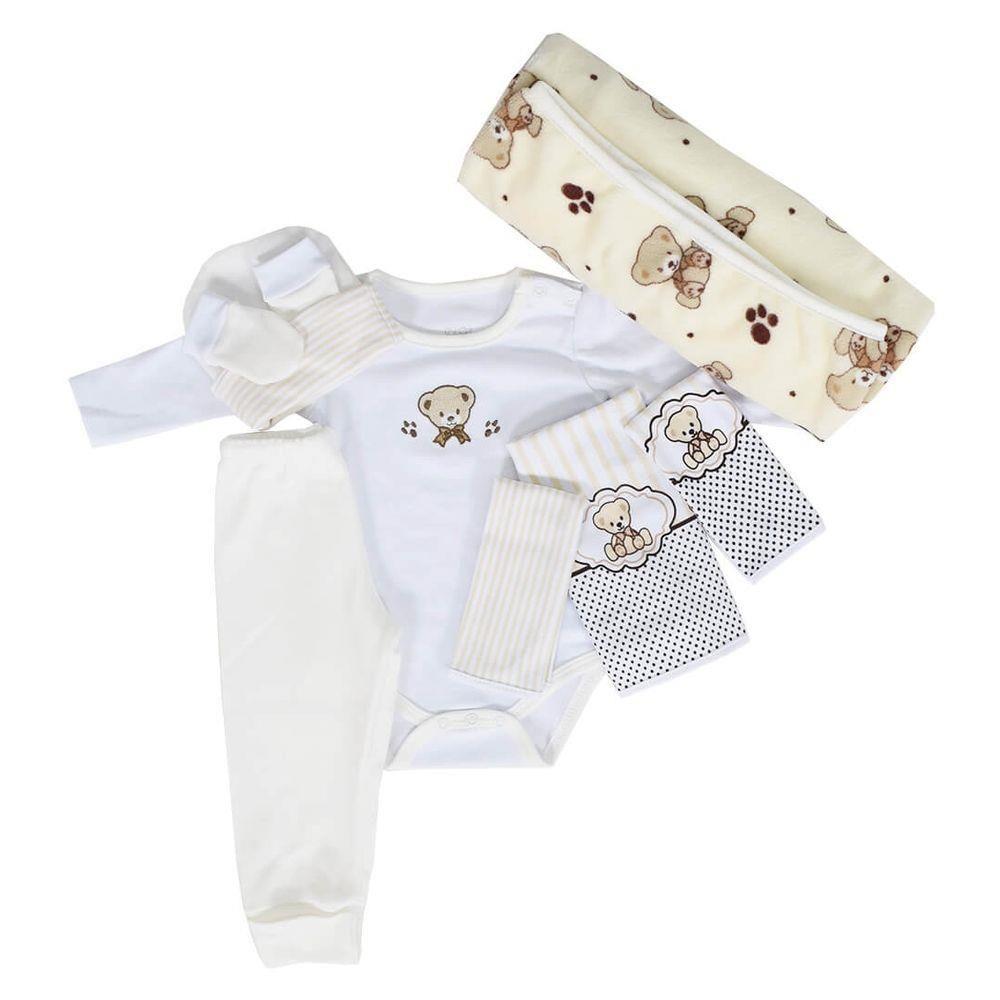 Baby Kit Bege Ursinho Colibri