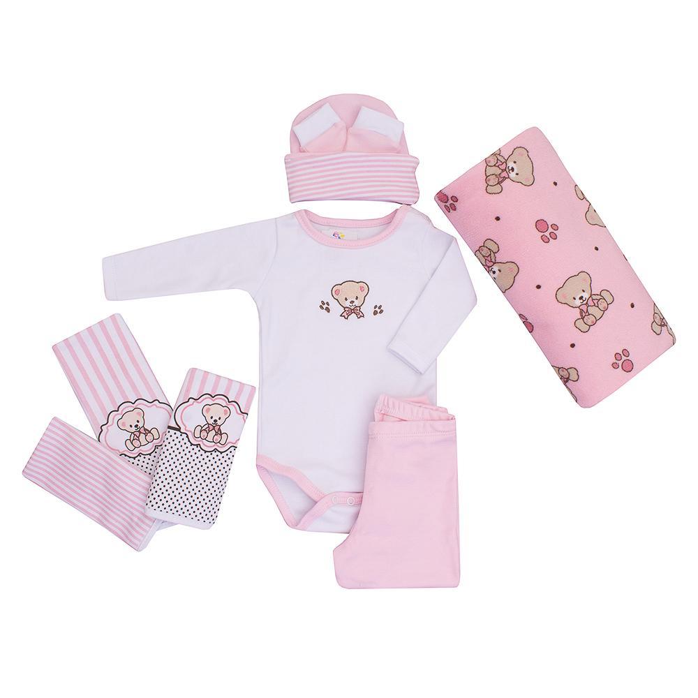 Baby Kit Rosa Ursinho Colibri
