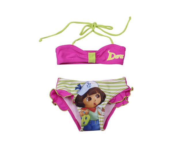 Biquíni Infantil Tip Top Dora Pink Estampado