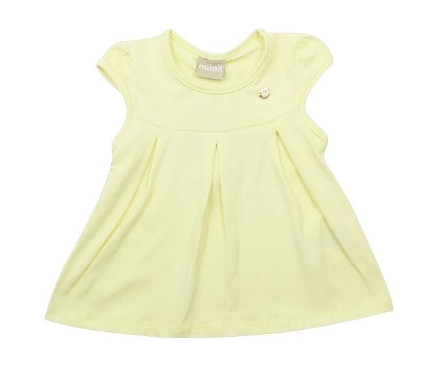 Blusa Básica Amarela Milon