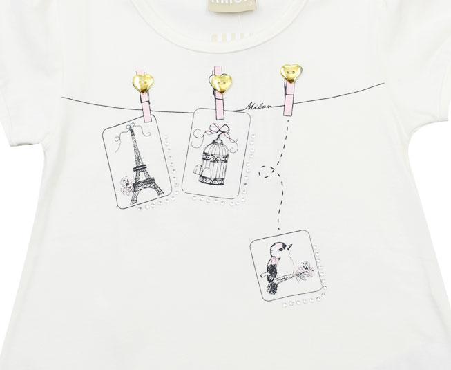 """Camiseta Feminina """"Paris"""" Milon"""