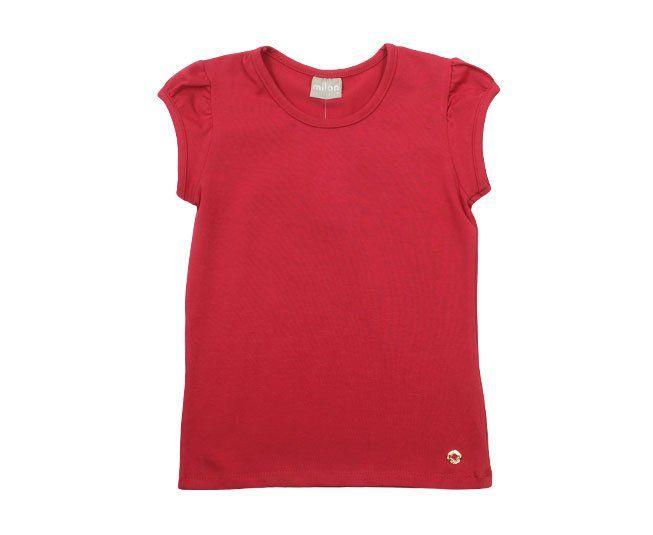 Blusa Feminina Vermelha Básica Milon