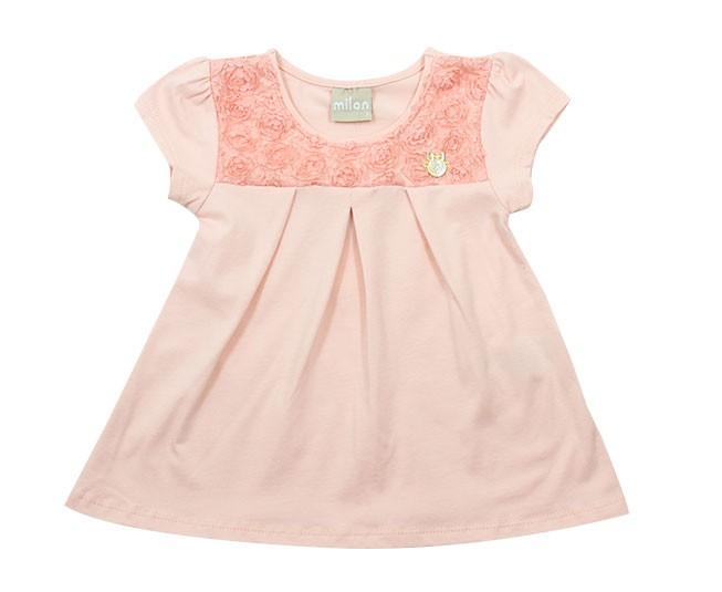 Blusa Rosa com Flores Milon