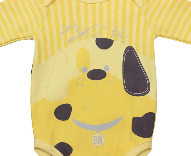 Body Cachorrinho Amarelo Bicho Molhado