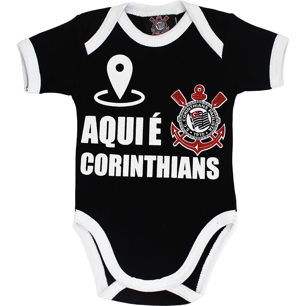 Body Corinthians Bebê Aqui é Corinthians