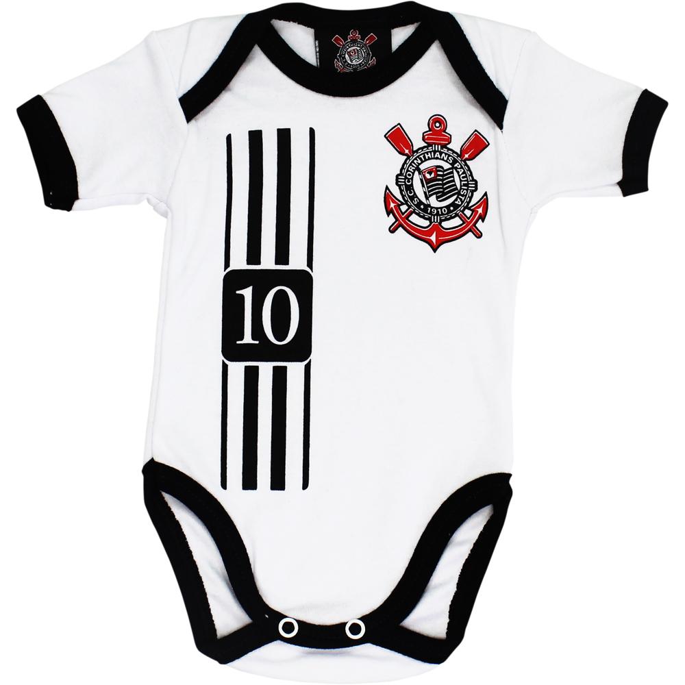 Body Corinthians Bebê Camisa 10