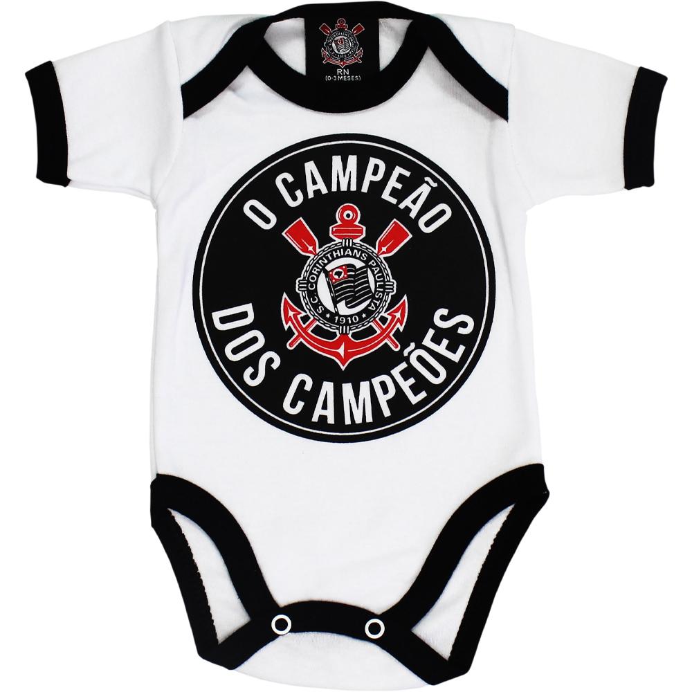 Body Corinthians Bebê Campeão Dos Campeões