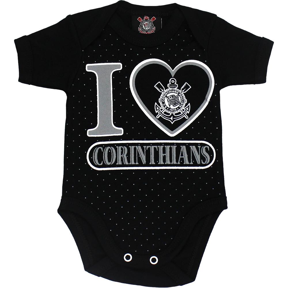 Body Corinthians Bebê I Love Corinthians