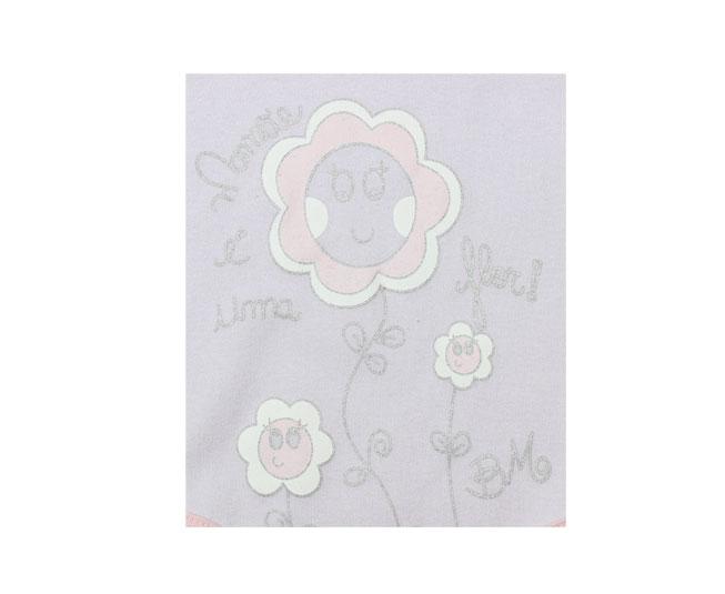 Body Feminino Lilas / Rosa Mamãe é Uma Flor Bicho Molhado