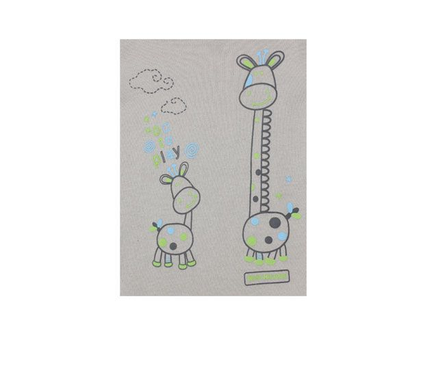 "Body Feminino Manga Longa Cinza com Verde Girafa ""On To Play"" Bicho Molhado"