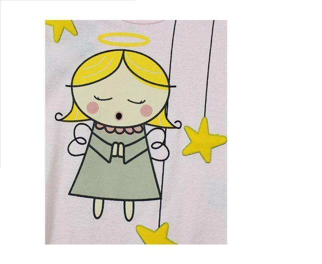 Body Feminino  Manga Longa Rosa Anjinho Minilab