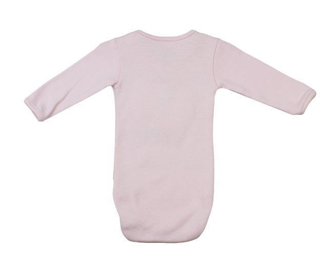 "Body Feminino Manga Longa Rosa ""Love My Bear"" Pati Mini"