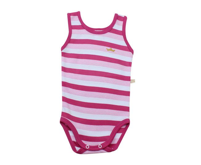 Body Feminino Regata Listrado Rosa Best Club