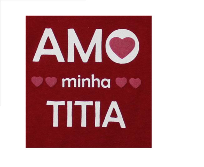 Body Feminino Vermelho Amo Titia  Minilab