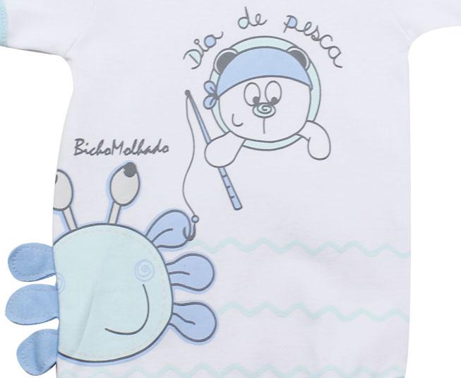 "Body Masculino ""Dia de pesca""   Bicho Molhado"
