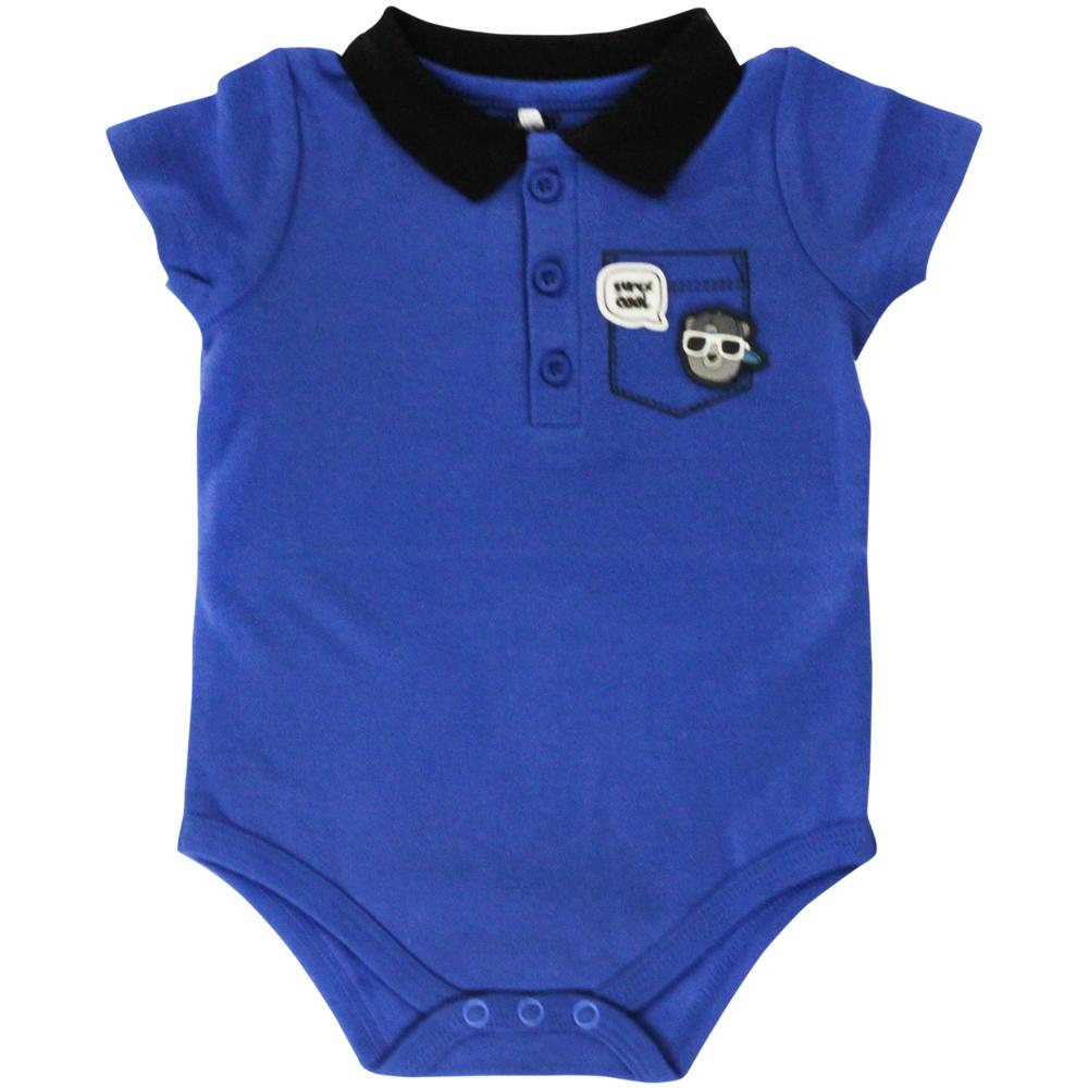 Body Polo Bebê Tip Top Azul