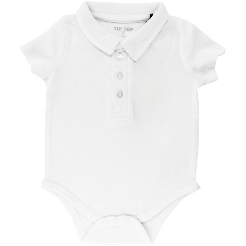 Body Polo Bebê Tip Top Branco