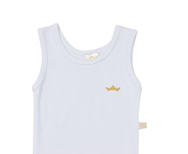 Body Regata Liso Branco Best Club