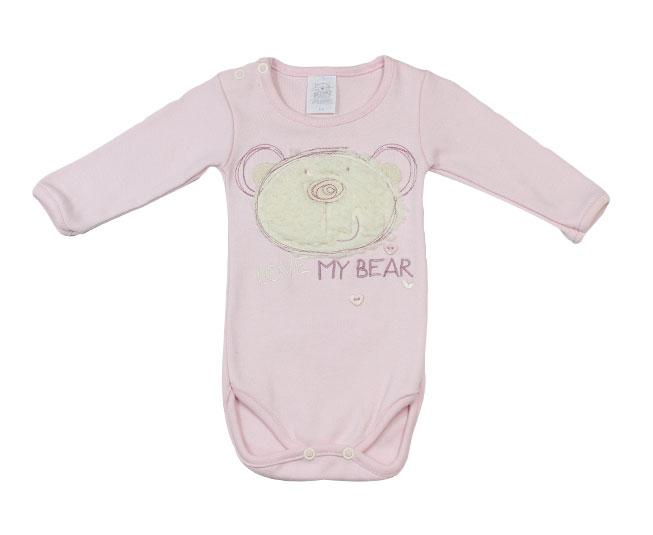Body Rosa Ursinho Love My Bear Pati Mini