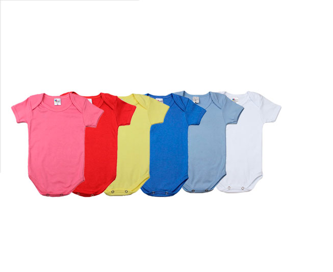 Bodys manga curta várias cores Minilab