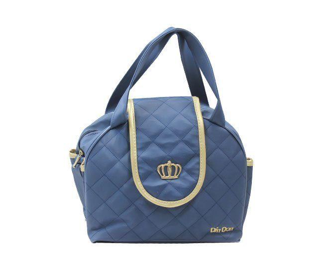 Bolsa Maternidade Azul Coroa Din Don
