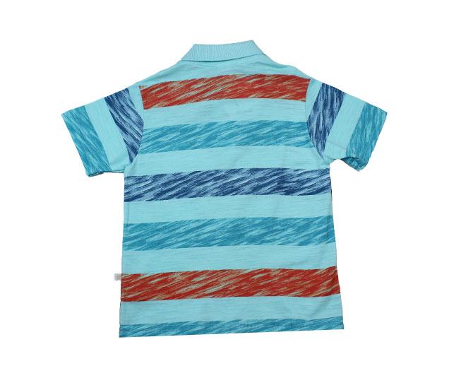 Camisa Gola Listrada com Botões  Surf Contest Brandili