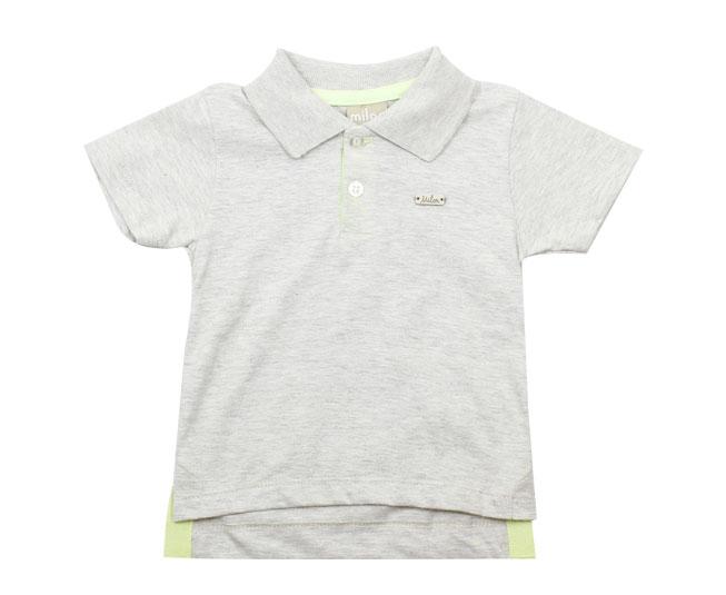 Camisa Polo Cinza Milon