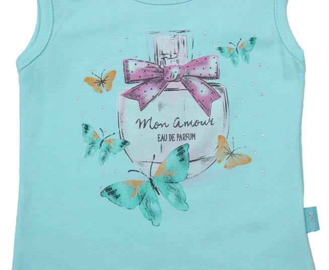 Camisa Regata Azul Marinho + Estampa de Perfume Pulla Bulla