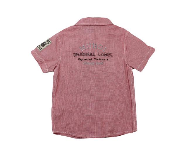 Camisa Vermelha Listrada de com Botões e Gola  Brandili Mundi