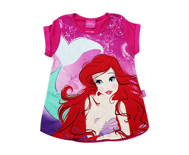 d2bc5ddce ... Camiseta Ariel Pequena Sereia Disney Brandili - Criança e Bebê ...