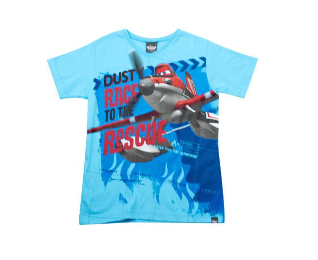 Camiseta Azul Aviões Malwee
