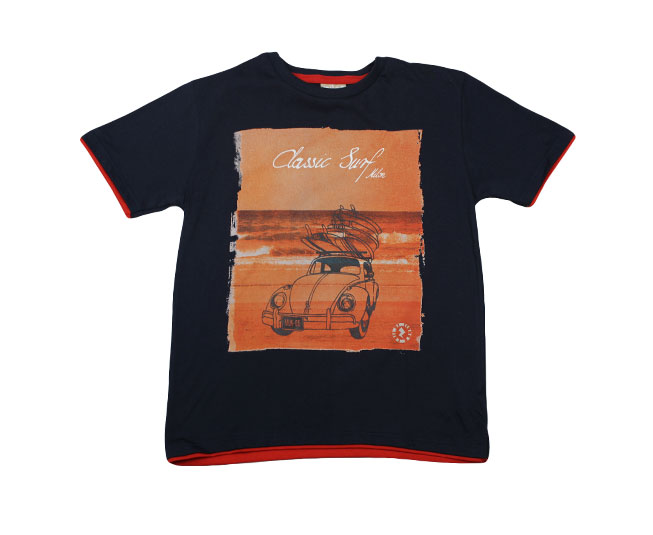 Camiseta Estampa Interative Classic Surf Milon