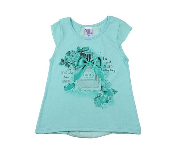 Camiseta Azul Marinho com Estampa de Perfume