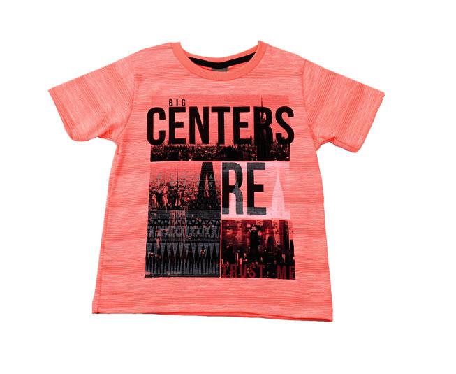 Camiseta 'Big Centers are Real trust me' Laranja Cintilante Brandili Mundi