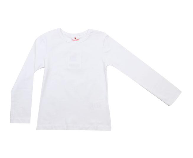 Camiseta Branca Manga Longa Infantil Brandili