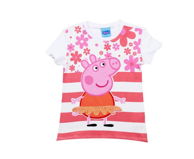 Camiseta Branca  Peppa Pig Malwee