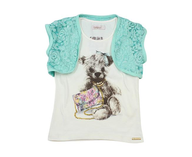 Camiseta Cachorrinho de Lacinho