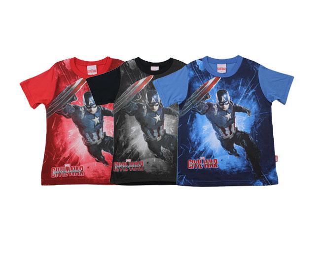 Camiseta Capitão América Guerra Civil Marvel Brandili