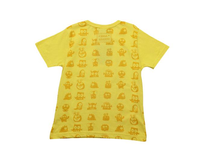 Camiseta de Monstrinho que Brilha no Escuro Boca Grande