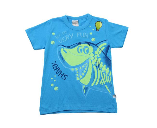 Camiseta de Tubarão que Brilha no Escuro Kamylus