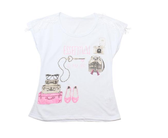 """Camiseta  """"Essential To My Trip"""" + Detalhes Bordados Kaiani"""
