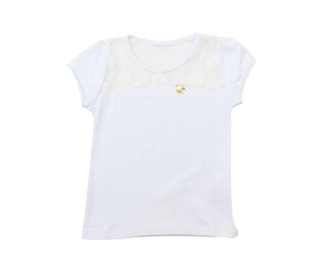 Camiseta Feminina Bordada Corações Kaiani