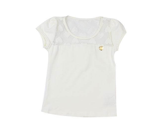 Camiseta Feminina Detalhada com Corações Kaiani